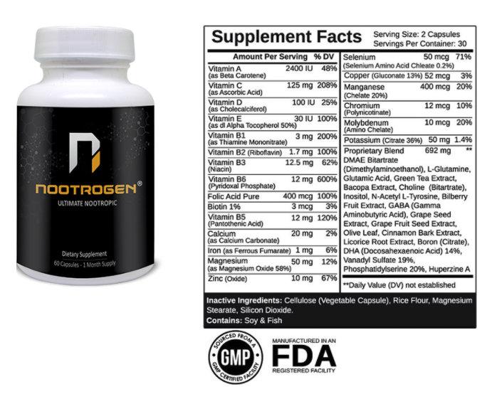 Nootrogen Ingredients